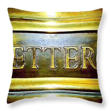 Letters Trough The Door Throw Pillow