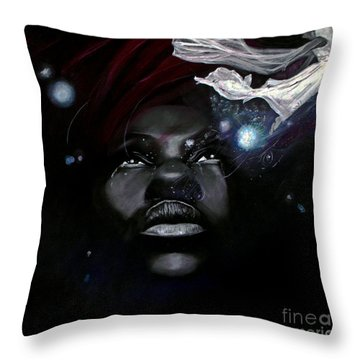 Letting Go Throw Pillow by Chelle Brantley