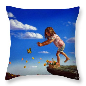 Letting It Go Throw Pillow by Christopher Shellhammer