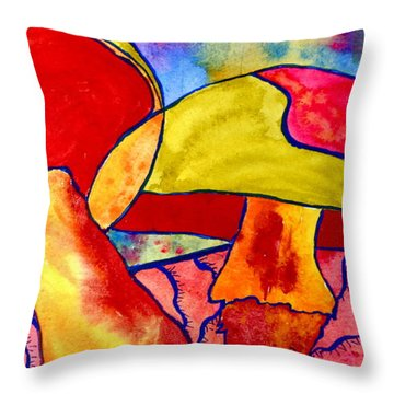 Letting My Freak Flag Fly Throw Pillow by Beverley Harper Tinsley