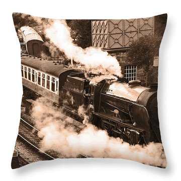 Letting Off Steam Throw Pillow by John Topman