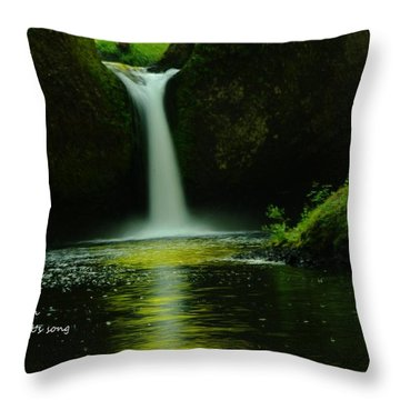 Letting The Calm Throw Pillow by Jeff Swan