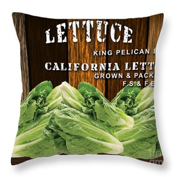 Lettuce Patch Throw Pillow