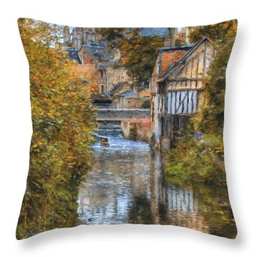 L'eure A Louviers Throw Pillow