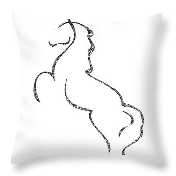Levade Throw Pillow by Bethany Martin