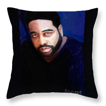 Throw Pillow featuring the painting Levert by Vannetta Ferguson