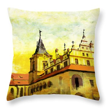 Levoca Spissky Hrad And The Associated Cultural Monuments Throw Pillow