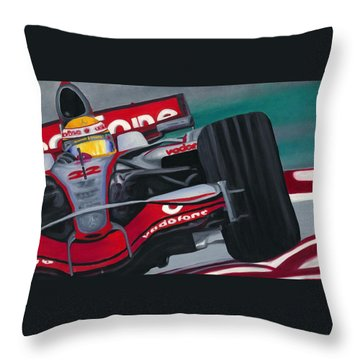Lewis Hamilton F1 World Champion 2008 Throw Pillow