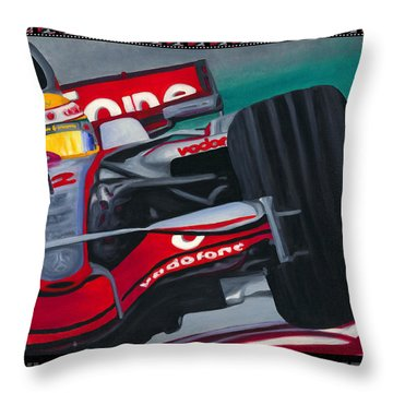 Lewis Hamilton F1 World Champion Pop Throw Pillow