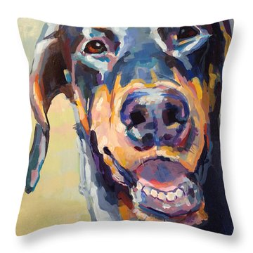 Doberman Throw Pillows