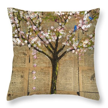 Lexicon Tree Of Life 3 Throw Pillow by Blenda Studio