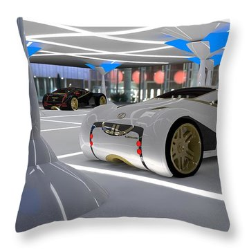 Lexus Cs 2054 Throw Pillow by Louis Ferreira