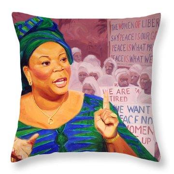 Leymah Gbowee Throw Pillow