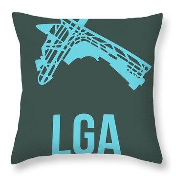 Lga New York Airport 3 Throw Pillow