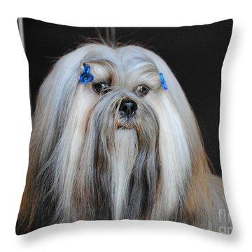 Lhasa Apso Throw Pillow by Jai Johnson