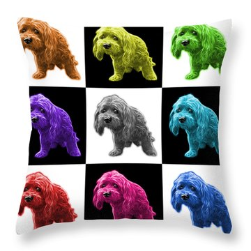 Lhasa Apso Pop Art - 5331 - V2- M Throw Pillow by James Ahn