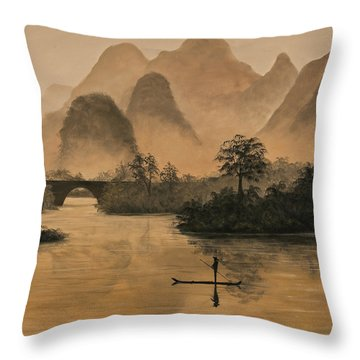 Li River China Throw Pillow
