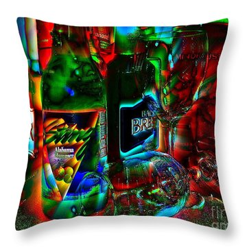Throw Pillow featuring the photograph Libations by Linda Bianic
