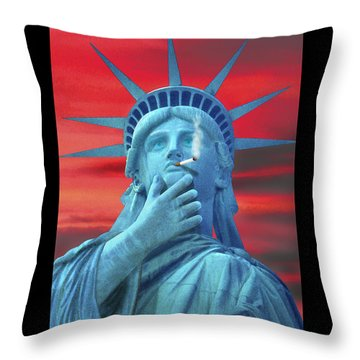 Liberated Lady Throw Pillow by Mike McGlothlen
