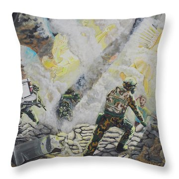 Liberator's Guardian Angles Throw Pillow
