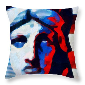 Liberty 3 Throw Pillow by Angelina Vick