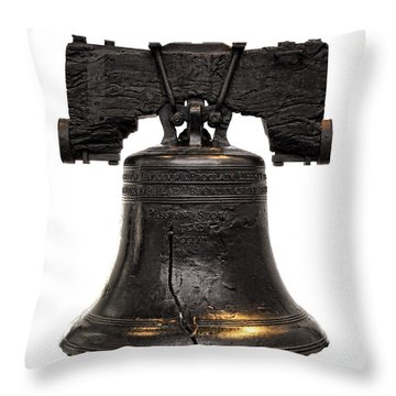 Liberty Bell Throw Pillow by Olivier Le Queinec