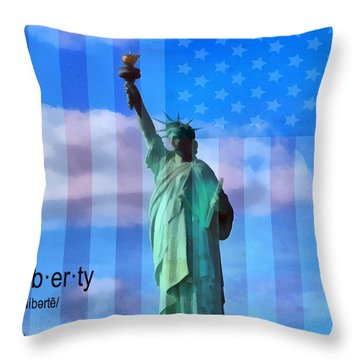 Liberty Defined Throw Pillow