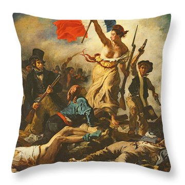 Liberty Leading The People, 28 July 1830 Throw Pillow
