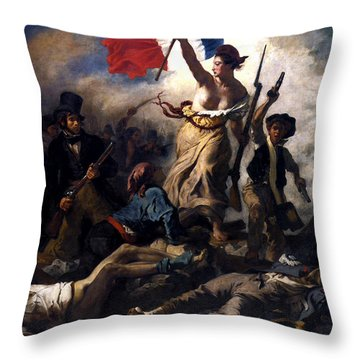 Liberty Leading The People During The French Revolution Throw Pillow by War Is Hell Store
