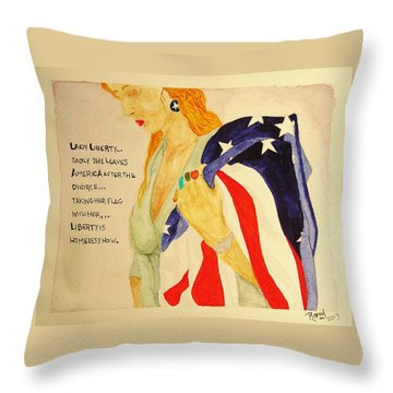 The Divorce Of Liberty Throw Pillow