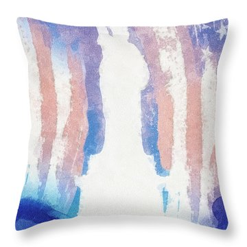 Liberty Throw Pillow by Mo T
