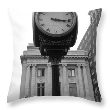 Liberty Mutual Clock Throw Pillow