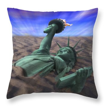 Liberty Park Throw Pillow by Mike McGlothlen