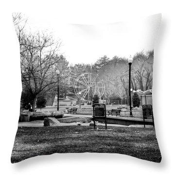 Throw Pillow featuring the photograph Liberty Park by Tarey Potter