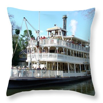 Throw Pillow featuring the photograph Liberty Riverboat by David Nicholls