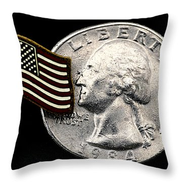 Liberty Throw Pillow by Ron Roberts