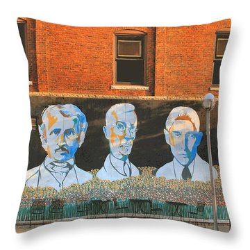 Liberty Street Mural Throw Pillow