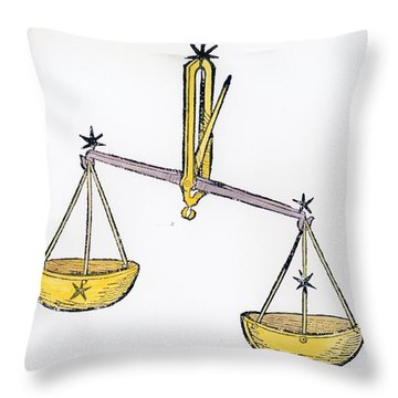 Libra An Illustration From The Poeticon Throw Pillow by Italian School