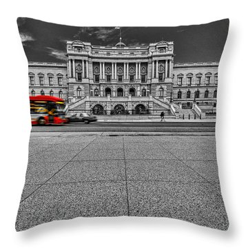Throw Pillow featuring the photograph Library Of Congress by Peter Lakomy