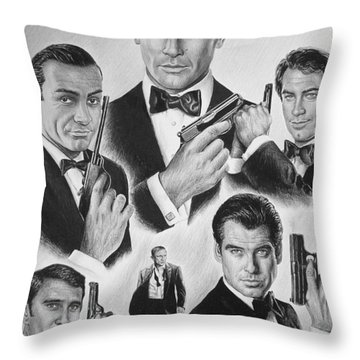 Licenced To Kill  Bw Throw Pillow