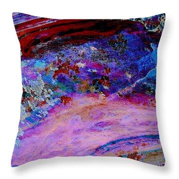 Lichen Sarabande Throw Pillow by Stephanie Grant