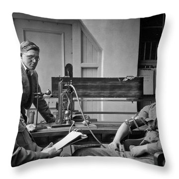 Lie Detector Test Throw Pillow by Underwood Archives