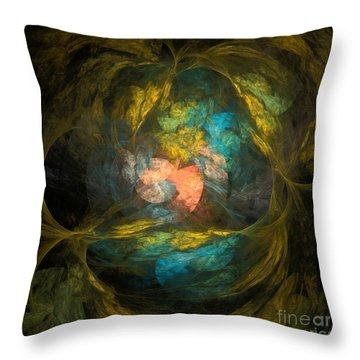 Throw Pillow featuring the digital art Life After by Arlene Sundby