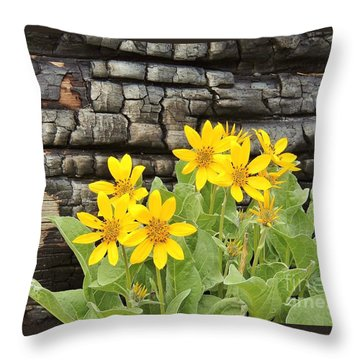 Life After Fire Throw Pillow