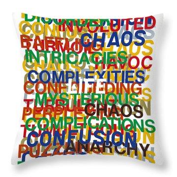 Life Throw Pillow by Agustin Goba