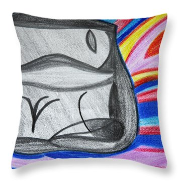 Throw Pillow featuring the drawing Life And Play by Vadim Levin