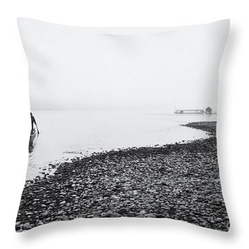 Life At Mekong River Throw Pillow by Setsiri Silapasuwanchai