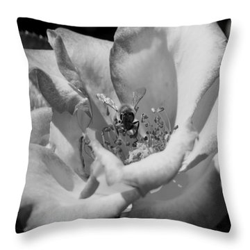 Life B W Throw Pillow