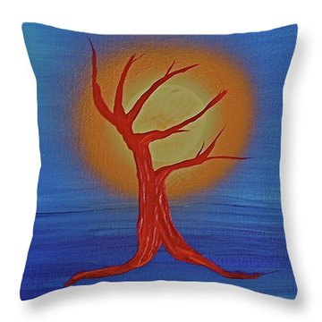 Throw Pillow featuring the painting Life Blood By Jrr by First Star Art