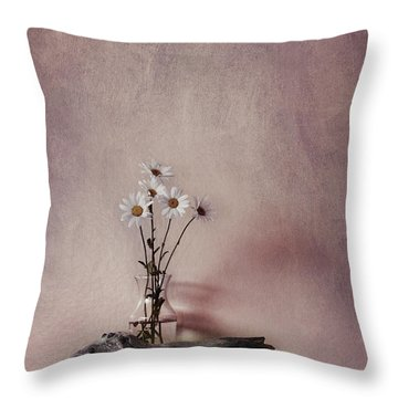 Life Gives You Daisies Throw Pillow by Priska Wettstein